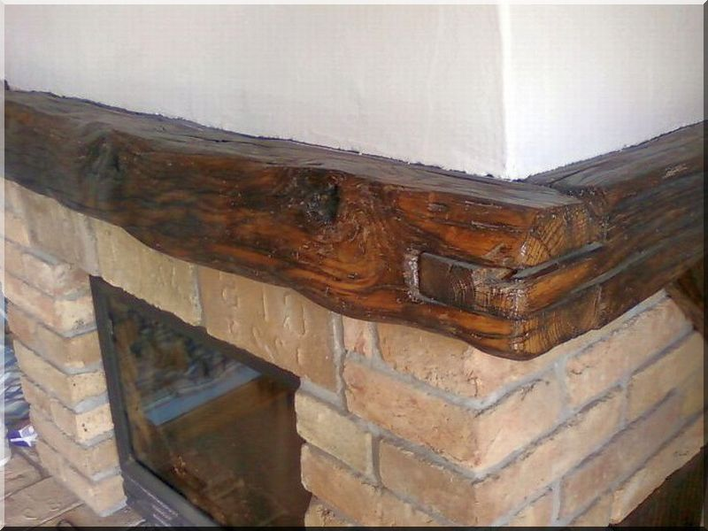 Kandalló szemöldökfa antik faanyagból