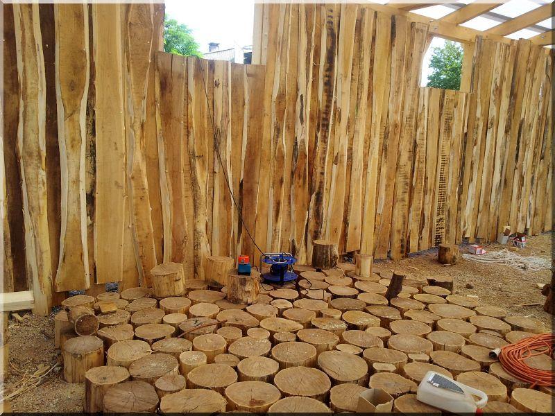 Fűrészelt akác deszka (kertépítő)