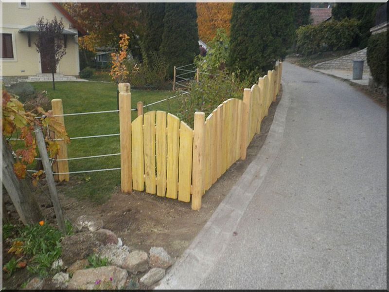 Rusztikus akác kerítéselem, 3 cm vastag