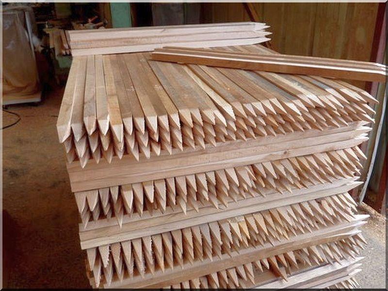 Nevelőkaró, akác fából, 120 cm