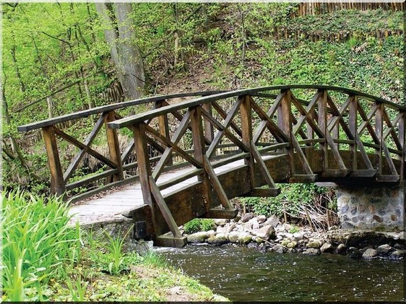 Fa kerti híd
