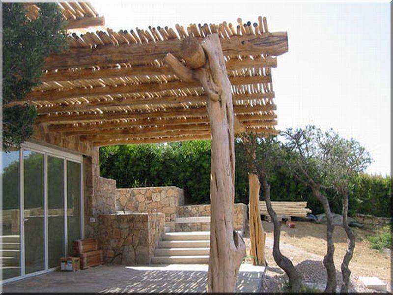 Pergolabau garteneinfassung bretter for Pergola bambou exterieur