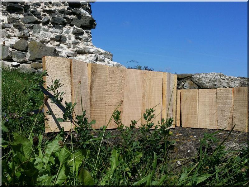 Tölgyfa ágyásszegély, kerti szegély