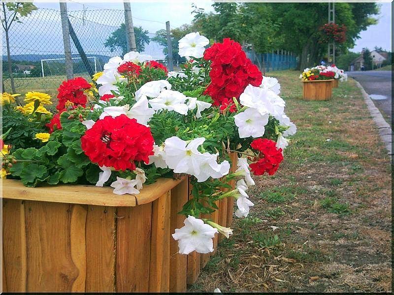 Rusztikus akác virágláda, 40 x 90 x 40 cm- es -