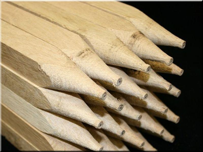 Akác karó, 25 x 25 mm-es, 0,8 méter hosszú