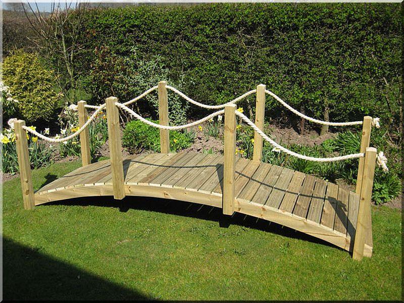 Gartenbrücke, Holzbrücke, kleine Brücke - Garteneinfassung