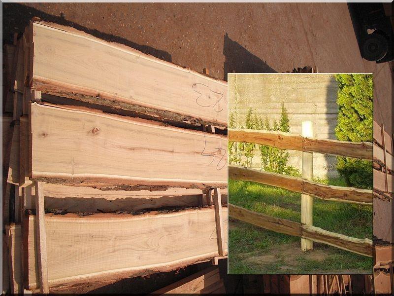 Fűrészelt akác deszka, széles (kertépítő)