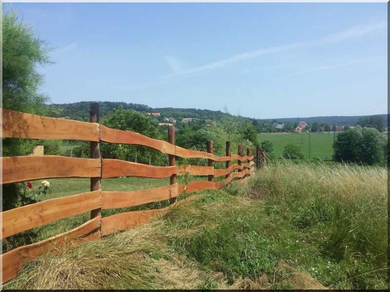 Kerítés, rusztikus, akác, 3 centiméteres